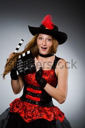 Mulher pirata forte arma preto seis Foto stock © Elnur