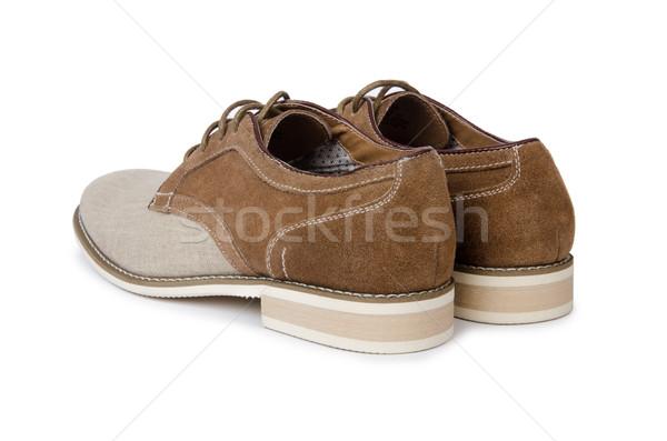 Stockfoto: Mannelijke · schoenen · geïsoleerd · witte · mode · sport