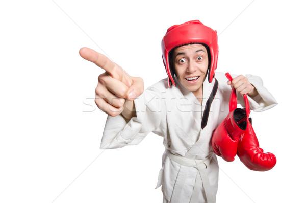 Man boxer isolated on white Stock photo © Elnur