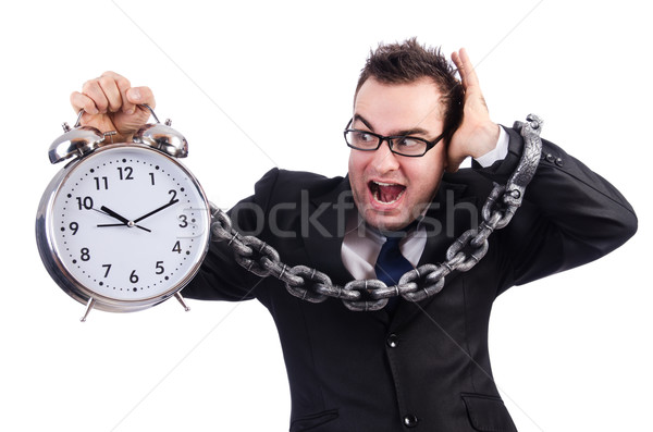 üzletember óra izolált fehér üzlet iroda Stock fotó © Elnur