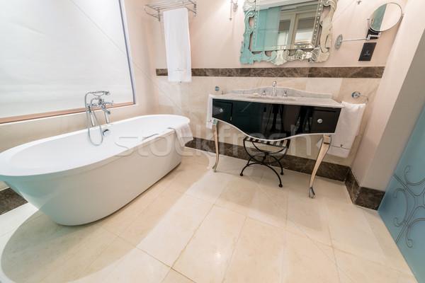 Modern bathroom interior with bathtub Stock photo © Elnur