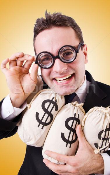 человека деньги градиент служба улыбка лице Сток-фото © Elnur