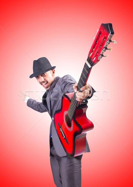 Guitarrista gradiente festa metal empresário concerto Foto stock © Elnur