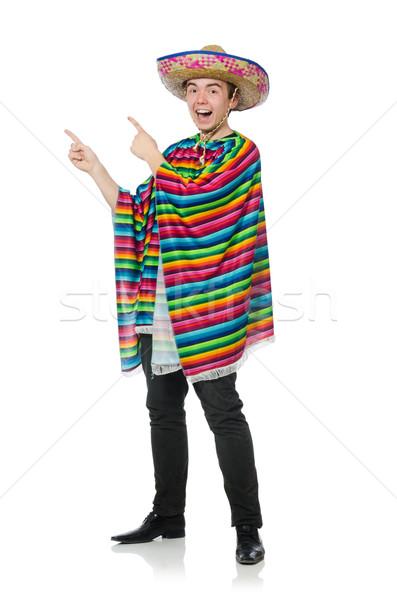 Engraçado jovem mexicano falso bigode isolado Foto stock © Elnur