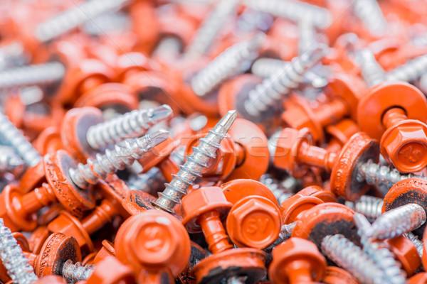 Muchos edificio fondo metal industria rojo Foto stock © Elnur