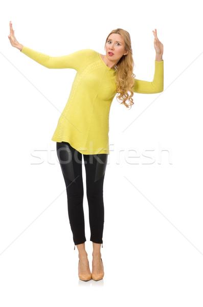 довольно желтый блузка изолированный белый Сток-фото © Elnur