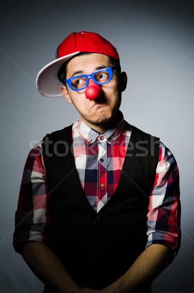 Funny payaso oscuro sonrisa cara gafas Foto stock © Elnur