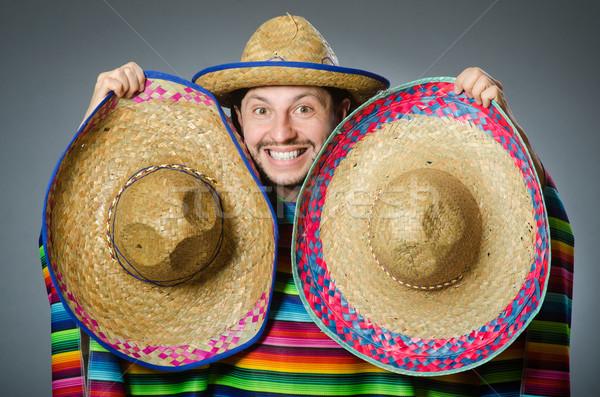 Komik Meksika geniş kenarlı şapka şapka parti Stok fotoğraf © Elnur