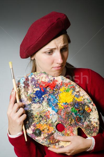 смешные художник рабочих студию кадр искусства Сток-фото © Elnur