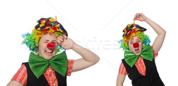 Stock photo: Female clown isolated on white