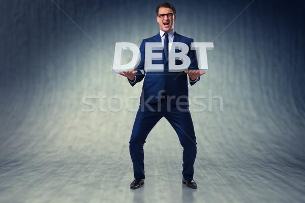 Férfi küszködik magas adósság üzlet pénz Stock fotó © Elnur