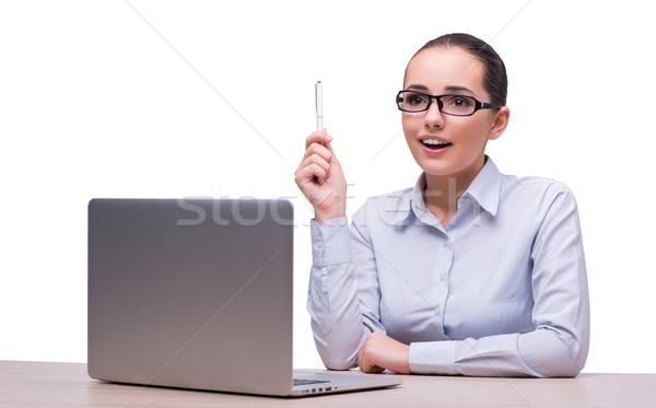 The businesswoman at her working desk with laptop Stock photo © Elnur