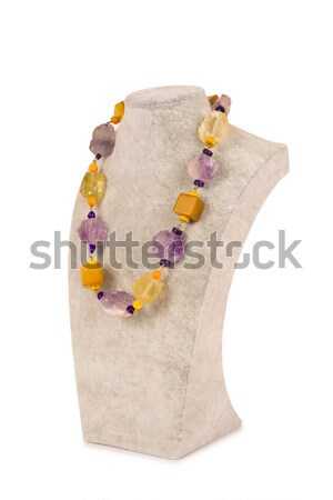 Jóias colar isolado branco abstrato fundo Foto stock © Elnur