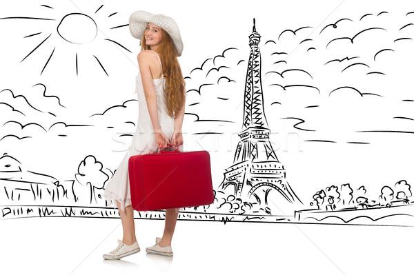 Mulher jovem mulher menina feliz moda Foto stock © Elnur