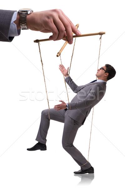 Businessman puppet isolated on white background Stock photo © Elnur