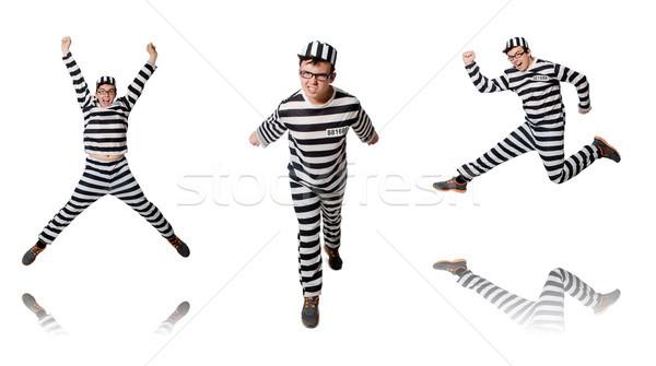 Divertente carcere detenuto uomo sfondo legge Foto d'archivio © Elnur