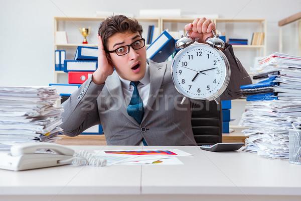 Empresario cumplir duro fecha tope negocios hombre Foto stock © Elnur