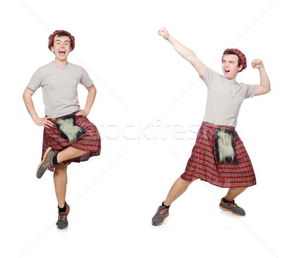 Funny scotsman isolated on white Stock photo © Elnur