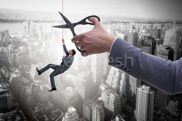 Affaires affaires risque travailleur entreprise corde Photo stock © Elnur