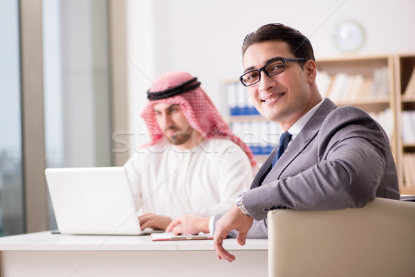The diverse business concept with arab businessman Stock photo © Elnur