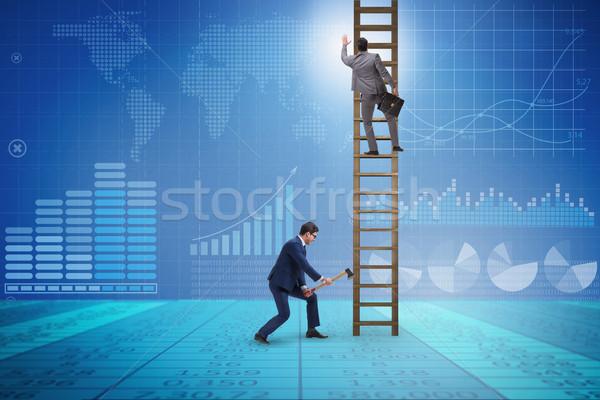 Affaires concurrence affaires homme affaires travailleur Photo stock © Elnur