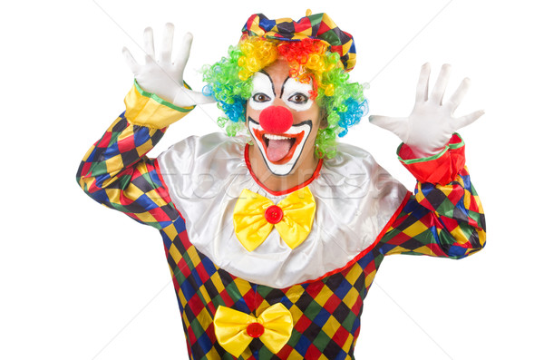 Funny clown isolated on white Stock photo © Elnur