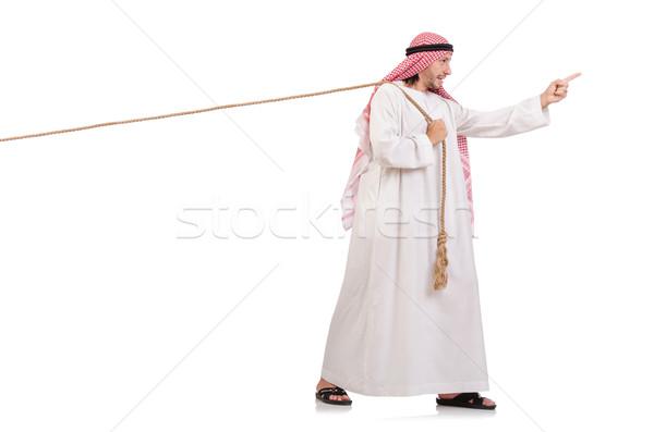 Arab háború fehér üzlet öltöny munkás Stock fotó © Elnur