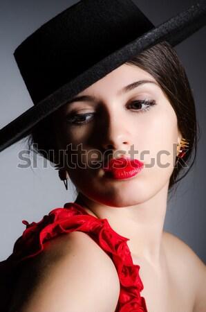 Jovem mulher atraente dança flamenco dançar moda Foto stock © Elnur