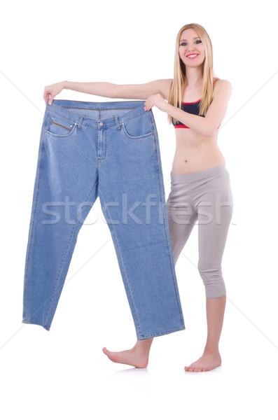 Régime jeans femme fille heureux santé Photo stock © Elnur