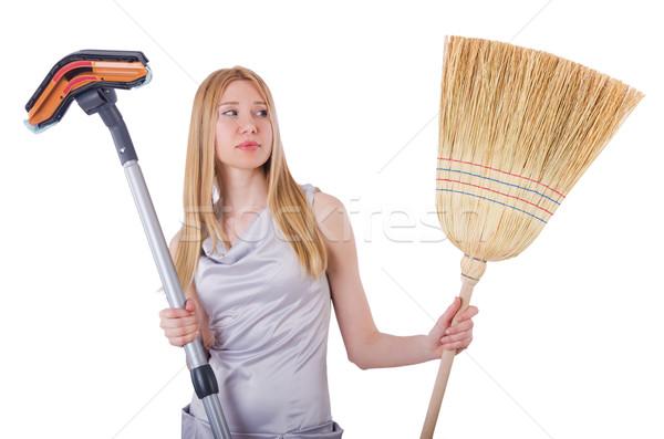 Vrouw huishouding home huis gelukkig werk Stockfoto © Elnur