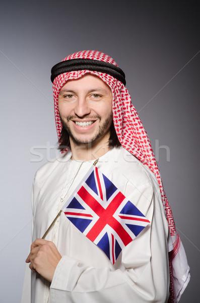 Arab uomo Regno Unito bandiera business sfondo Foto d'archivio © Elnur