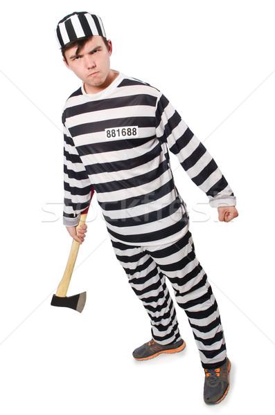 Funny więzienia więzień prawa zabawy policji Zdjęcia stock © Elnur