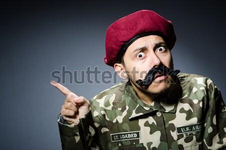 Foto stock: Funny · criminal · arma · aislado · blanco · hombre