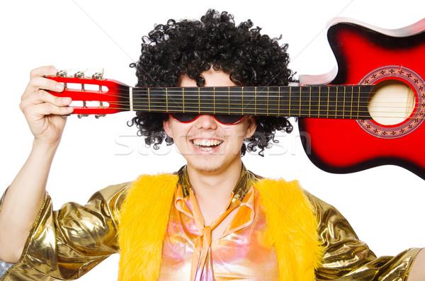Hombre guitarra aislado hombre blanco blanco fiesta Foto stock © Elnur