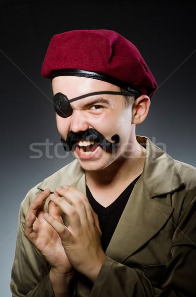 Divertente soldato militari uomo verde guerra Foto d'archivio © Elnur