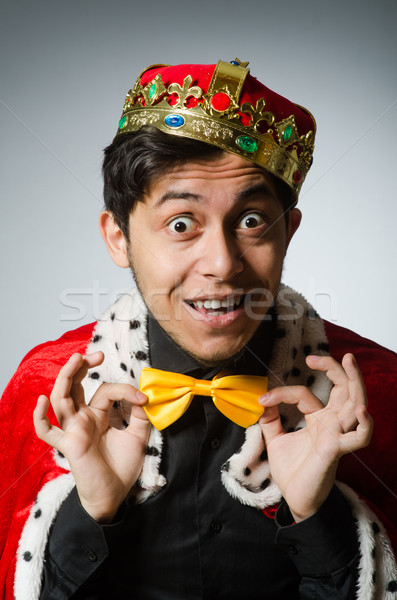 Concept with funny man wearing crown Stock photo © Elnur