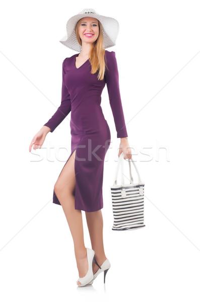 женщину сумку моде модель белый рубашку Сток-фото © Elnur