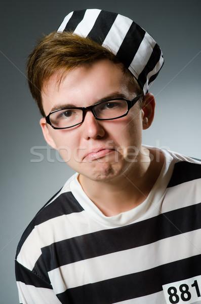 Börtön bennlakó vicces férfi zár szabadság Stock fotó © Elnur