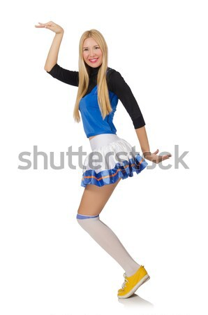 Chefe de torcida isolado branco mulher sorrir escolas Foto stock © Elnur