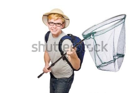 男 サファリ 帽子 狩猟 自然 面白い ストックフォト © Elnur