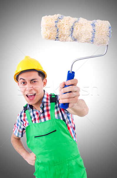 Funny painter isolated on white Stock photo © Elnur