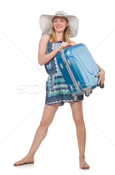 Kobieta biały dziewczyna lotniska zabawy Zdjęcia stock © Elnur