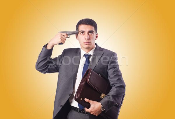 бизнесмен мышления самоубийства градиент бизнеса стороны Сток-фото © Elnur