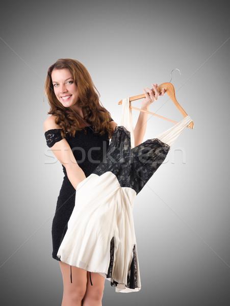 Młoda kobieta nowego odzież gradient uśmiech pokój Zdjęcia stock © Elnur