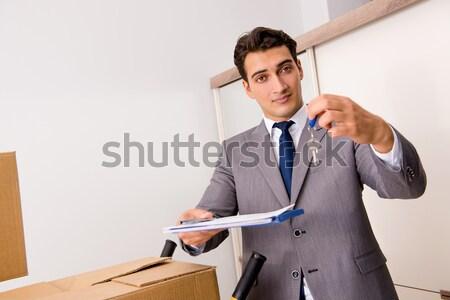Imprenditore business isolato bianco uomo lavoro Foto d'archivio © Elnur
