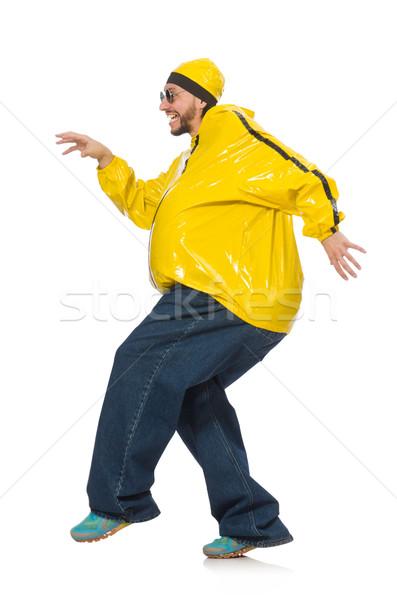 избыточный вес человека изолированный белый здоровья танцы Сток-фото © Elnur