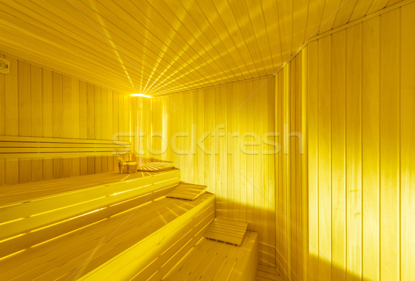 Quente sauna quarto interior madeira Foto stock © Elnur