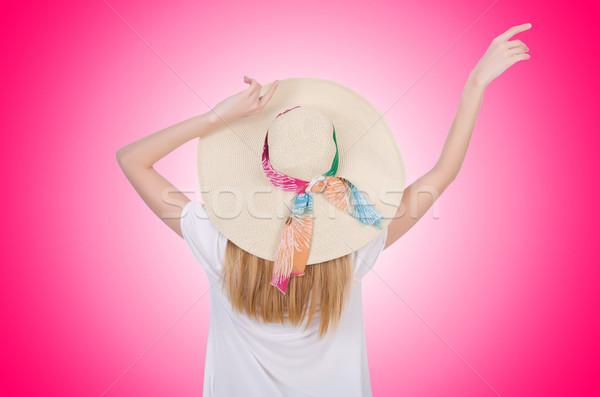 Fiatal vonzó nő kész nyári vakáció lány divat Stock fotó © Elnur