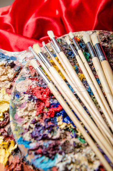 Artista palette arte acqua scuola vernice Foto d'archivio © Elnur