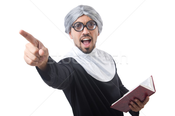 Man wearing nun costume isolated on white Stock photo © Elnur